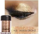 Eye Shadow Powder, Redcolourful Highlighter Makeup Shimmer Glitter Eye Shadow Powder Diamond Pearl Eye Shadow Lips Highlighter 10ml,MUSEUM BRONZE