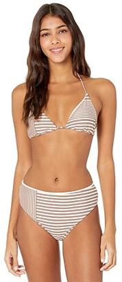 O'Neill Sunray Stripe Tri Top (Vanilla) Women's Swimwear
