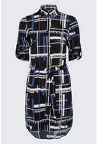 Select Fashion Fashion Womens Blue Multi Grid Shirt Dress - size 6