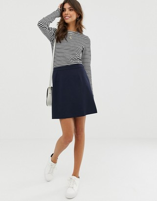 Asos DESIGN tailored a-line mini skirt