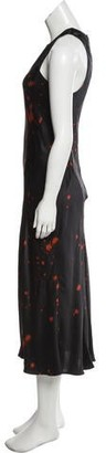 Alexander Wang Printned Sleeveless Dress w/ Tags Black