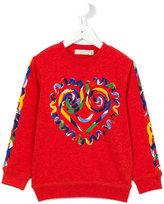 Stella McCartney heart print sweatshirt - kids - Cotton - 6 yrs