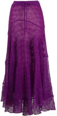 Missoni Draped Maxi Skirt