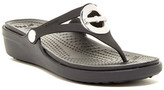 Crocs Sanrah Circle Bow Wedge Flip-Flop (Women)