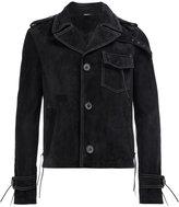 Lanvin tassel detail biker jacket - men - Cotton/Calf Leather/Viscose - 48
