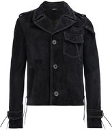 Lanvin tassel detail biker jacket - men - Cotton/Calf Leather/Viscose - 50