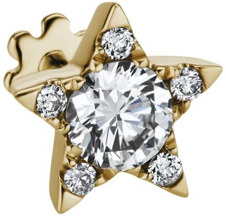 Maria Tash 7Mm Gold And Diamond Star Threaded Earring