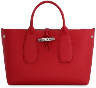 Longchamp Roseau Pebbled Leather Handbag