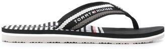 Tommy Hilfiger Striped Slip-On Flip Flops