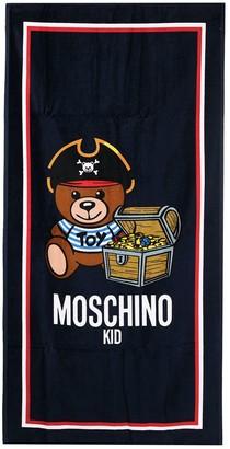 MOSCHINO BAMBINO Teddy Pirate graphic print towel