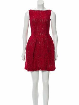 Roland Mouret Lace Mini Dress Red