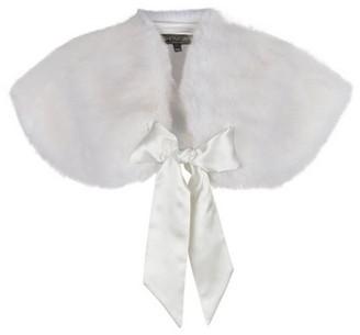 Dorothy Perkins Womens **Showcase Bridal White Faux Fur Shrug, White