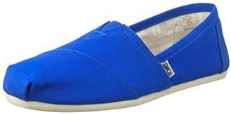 Toms Women's Canvas Seasonal Classics Alpargata Low-Top Slippers, Blue (Cobalt)