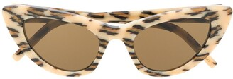Saint Laurent Eyewear Lily leopard-print cat-eye sunglasses