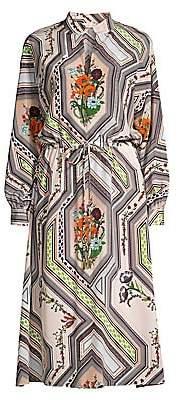Tory Burch Women's Geometric Floral Midi Dress