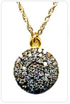 Maya Brenner Diamond in the Rough Disc Necklace