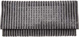 Nina Striped Pattern Crystal Clutch - Chicago