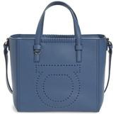 Salvatore Ferragamo Small Pebbled Leather Tote - Blue