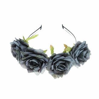 YAZILIND Cloth Big Rose Flower Christmas Hair Accessories Photo Studio Retro Headband Accessories Gray