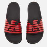 Emporio Armani Men's Slide Sandals Black/Red