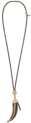Saint Laurent Oversized Folk Saber Pendant Necklace