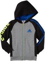 adidas Warm Up Fleece Jacket (Toddler/Kid) - Gray/Blue-4