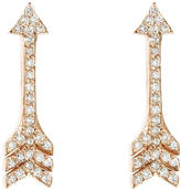Jennifer Meyer Diamond Arrow Stud Earrings - Rose Gold