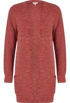 River Island Womens Pink longline oversized knit cardigan