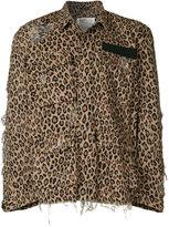 R 13 leopard print boxy jacket