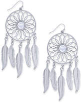 Thalia Sodi Silver-Tone Crystal Dreamcatcher Drop Earrings, Created for Macy's