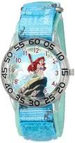 Disney Girl's 'Ariel' Quartz Plastic and Nylon Watch, Color:Blue (Model: W002911)
