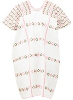 Pippa Holt - Embroidered Cotton Mini Kaftan - Womens - White Multi