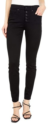 Lucky Brand Mid-Rise Ava Skinny Jeans w/ Exposed Buttons in York (York) Women's Jeans