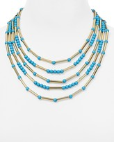 "Aqua Darienne Layered Collar Necklace, 16"""