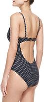 Tory Burch Milos V-Neck One-Piece Swimsuit