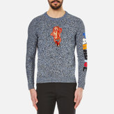 Kenzo Badge And Paradise Cotton Knitted Jumper Anthracite