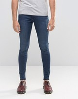 Cheap Monday Mid Spray Jeans Fall Blue