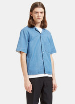 Acne Studios Men's Elm Short Sleeved Denim Shirt In Blue
