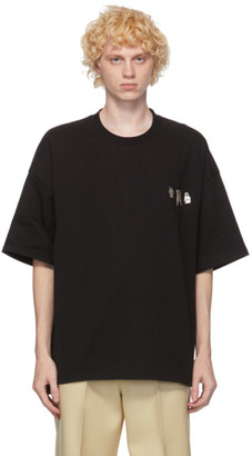 Jil Sander Black Metal Decoration T-Shirt