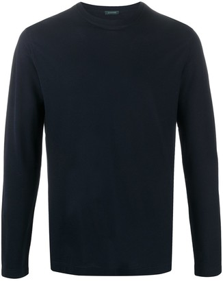 Zanone long-sleeved cotton T-shirt
