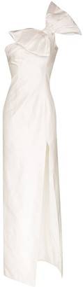 Rasario Bow Detail One-Shoulder Gown