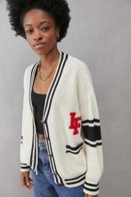 Iets Frans... iets frans. Varsity Cardigan - White XS at Urban Outfitters