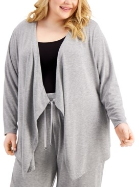 Calvin Klein Size Open-Front Cardigan