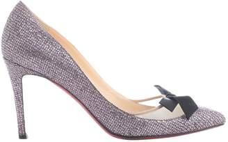 Christian Louboutin \N Pink Glitter Heels