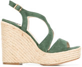 Paloma Barceló Fedry sandals - women - Leather/Suede/Straw - 40