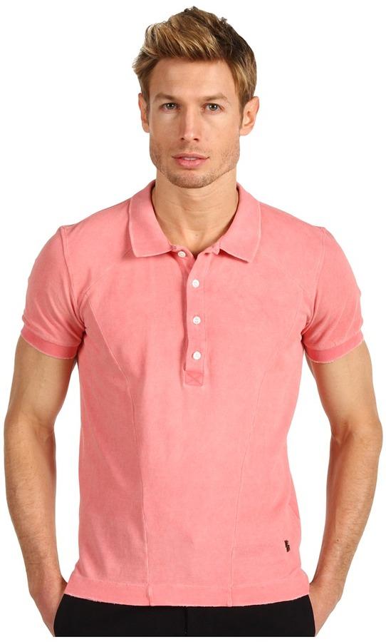 Balmain Pierre Short Sleeve Polo (Peach) - Apparel