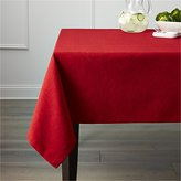 Crate & Barrel Linden Ruby Red Tablecloth