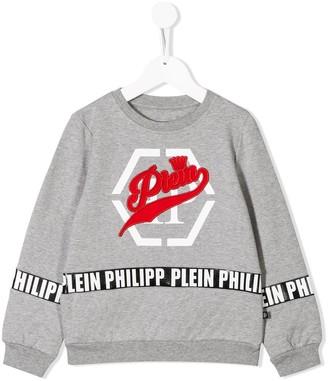 Philipp Plein Junior Embroidered Logo Sweater