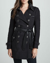 Sam Edelman Belted Trench with Studded Collar