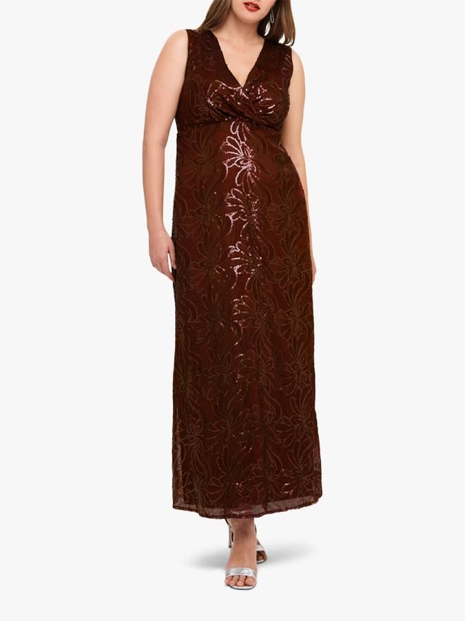 Studio 8 Hope Sequin Maxi Dress, Berry